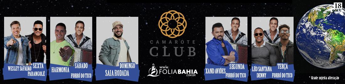 Atrações Camarote Club 2020