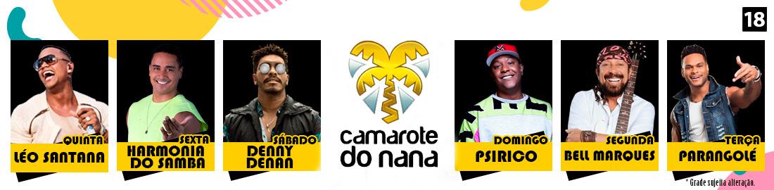 Atrações Camarote Nana 2020