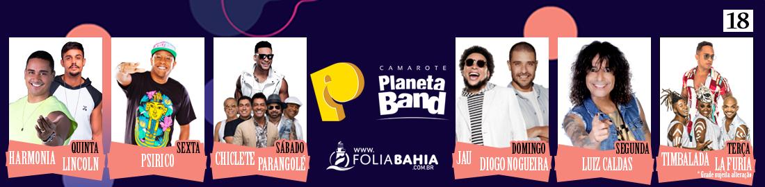 Atrações Camarote Planeta Band All Inclusive 2020
