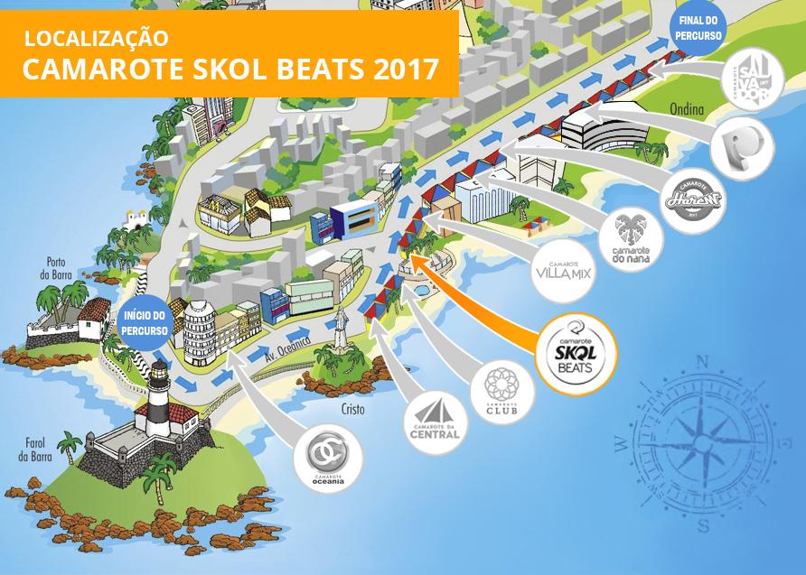 Localização Skol Beats 2017
