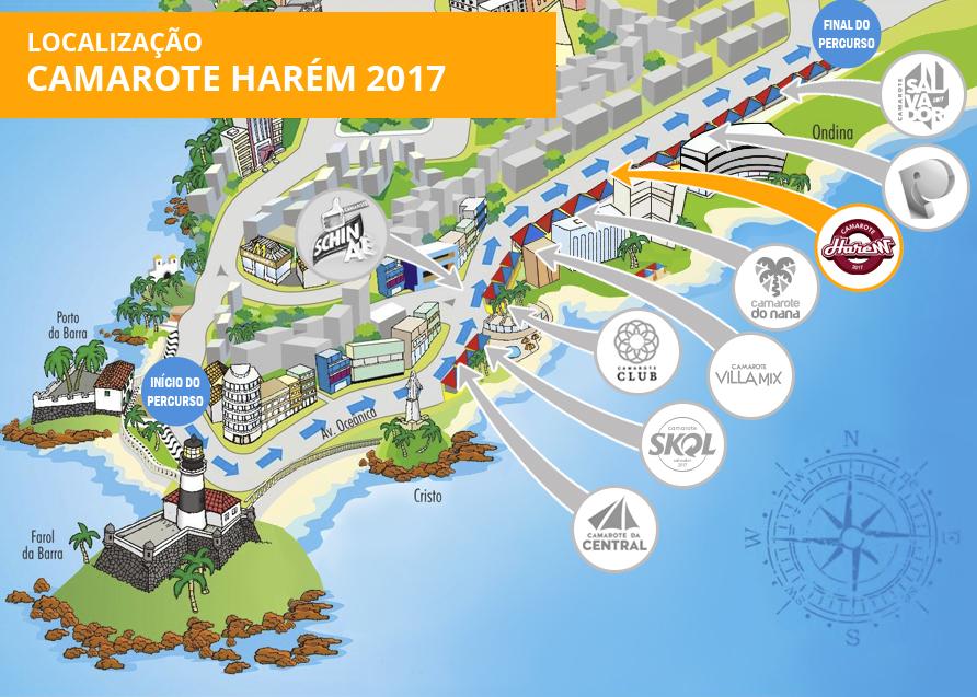 Localização Camarote Harém 2017