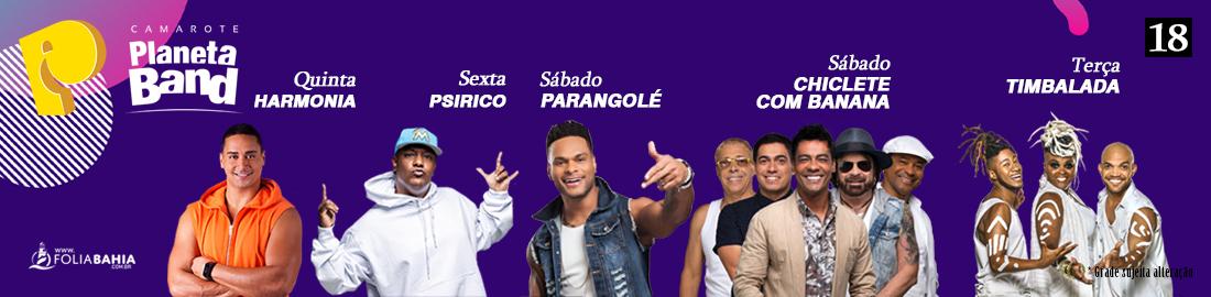Atrações Camarote Planeta Band 2020