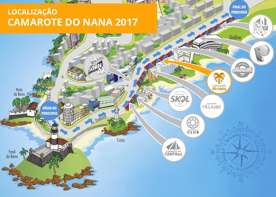 Localização Camarote do Nana 2017