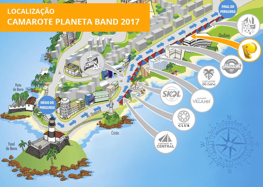 Localização Planeta Band Othon 2017