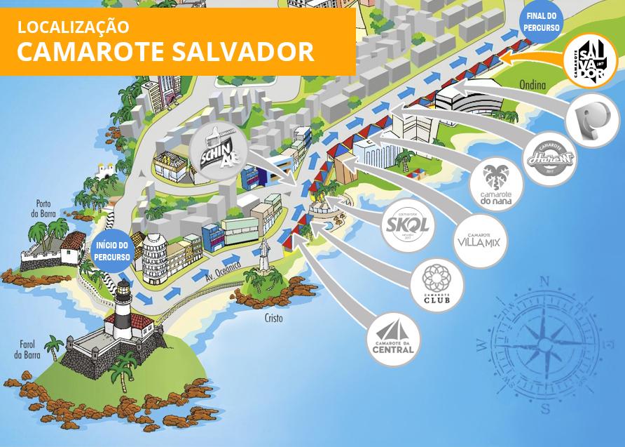 Localização Camarote Salvador