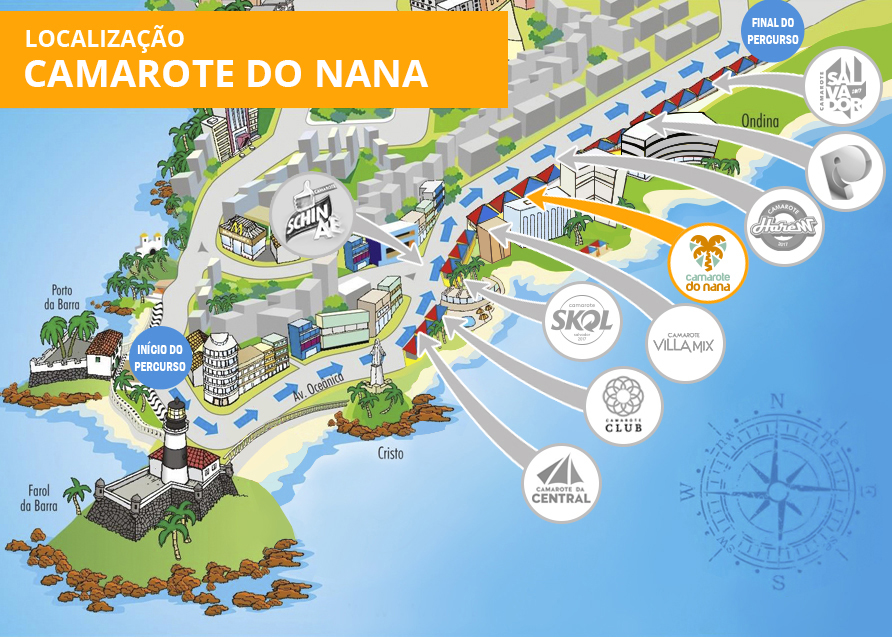 Localização Camarote do Nana