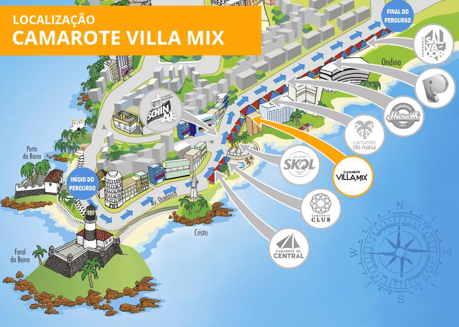 Localização Villa Mix