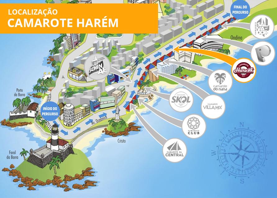 Localização Camarote Harém