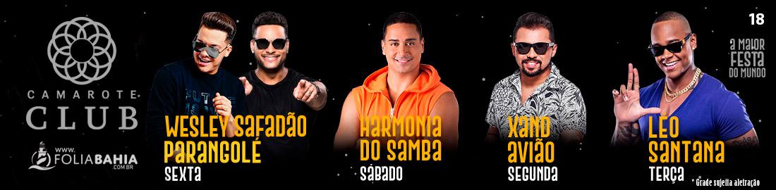 Folia Bahia - Atrações Camarote Club 2020
